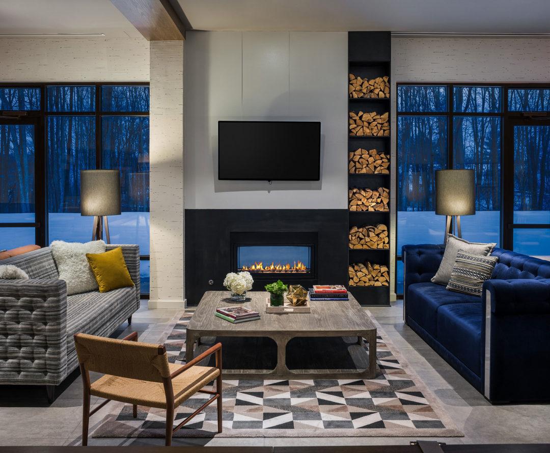 Hotel Zero Fireplace